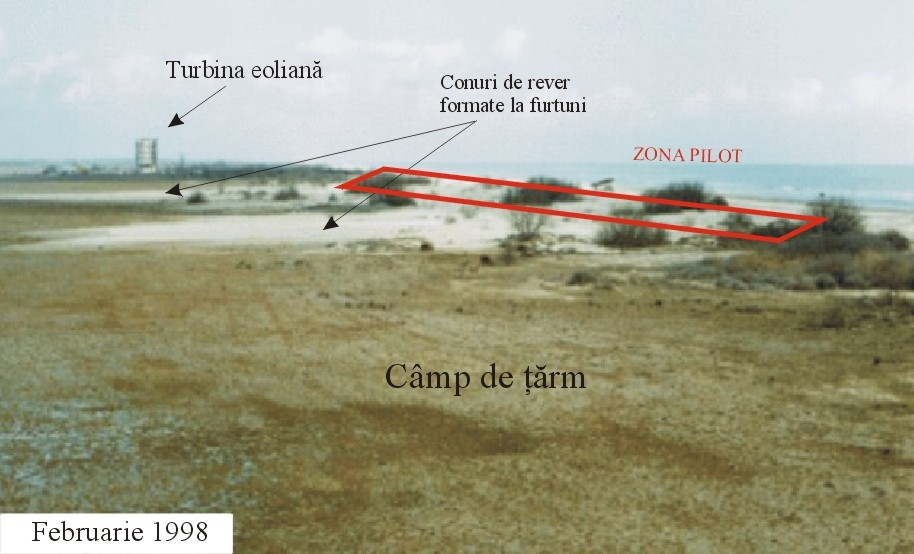 The pilot zone for ecological dune reconstruction. Wash-over fans superposed on a deflation plain