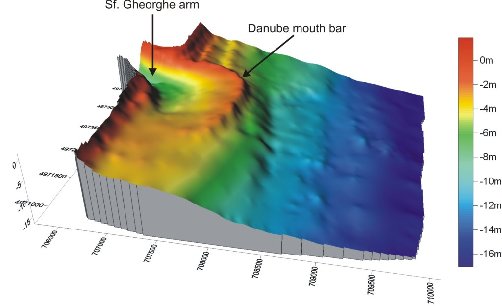 Digital elevation model of St. George Danube's arm mouth